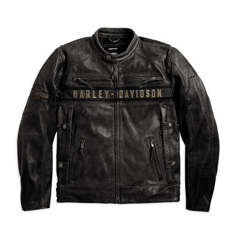 mens leather riding jacket harley davidson mens passing link leather riding jacket