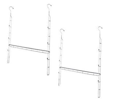 Closet Doubler Rod by Closet Doubler Set Of 2 Adjustable Hanging Closet Rods Qvc