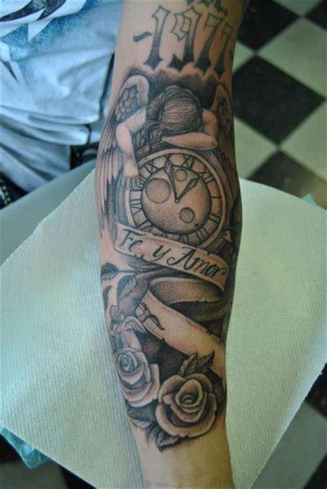 tattoo angel and clock arm clock old school angel tattoo by pattys artspot