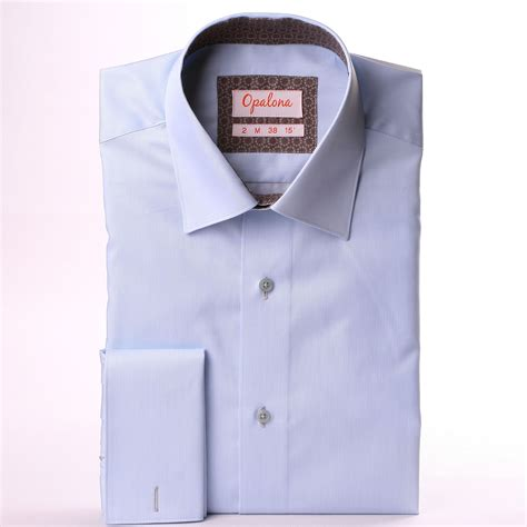 pattern for french cuff light blue french cuff shirt with grey pattern collar and