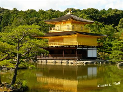 photograph of golden pavilion in kyoto japan