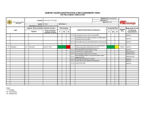 document master list template fmc out repot hse dept rev 000