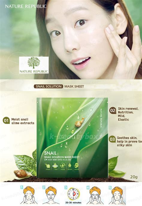 Masker Nature Republic nature republic snail solution mask sheet korean