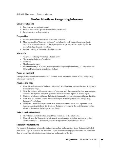 Inference Worksheets by 16 Best Images Of Inference Worksheets Middle School
