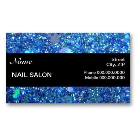 nail business cards templates sparkles glitter nail salon businesscard