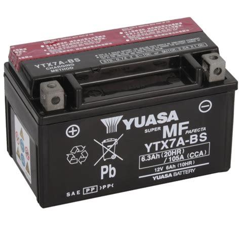 Motorrad Batterie Ctx7a Bs by Yuasa 12v 6 3ah Batcar De Shop Motorradbatterie