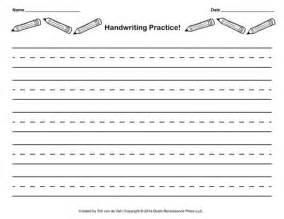 free handwriting practice paper for kids blank pdf