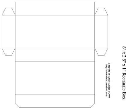 printable box template 6 quot rectangle box busy ness pinterest box box