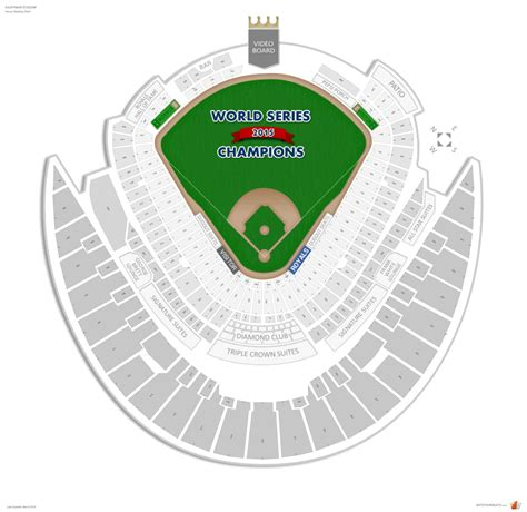 kauffman stadium map kansas city royals seating guide kauffman stadium rateyourseats