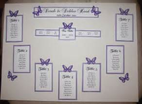 best table design personalised a3 a2 wedding seating plan table plan