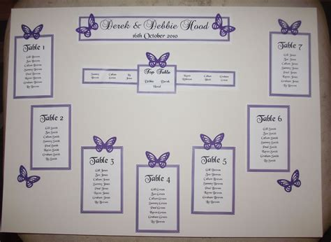 Wedding Table Seating by Personalised A3 A2 Wedding Seating Plan Table Plan