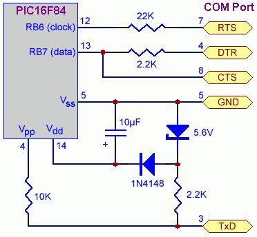 jdm programmer circuit diagram simple jdm pic programmer