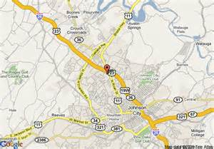 map of johnson city days inn johnson city