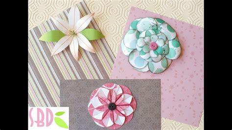 come si fanno i fiori di zucchero tutorial 3 fiori di carta fai da te per scrapbooking