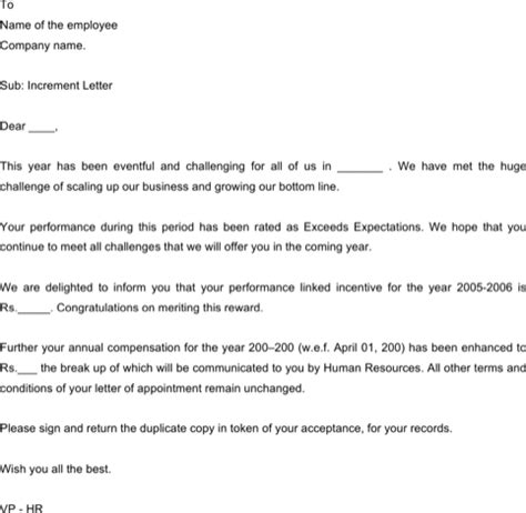 Appraisal Letter To Staff sle appraisal letters for free formtemplate
