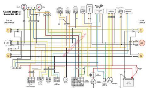 Suzuki Wiring Diagram Diagrama Suzuki Gn125 H