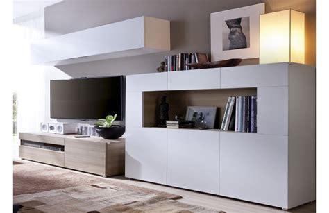 mueble salon minimalista madera y blanco una combinaci 243 n m 225 gica
