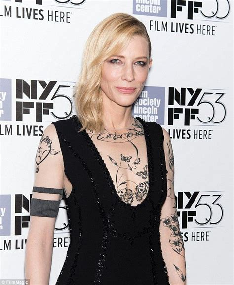 cate blanchett tattoo cate blanchett sports dress with sleeves at carol