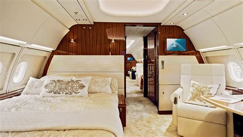 private jet with bedroom andrew winch designs on the airbus acj 318 interior