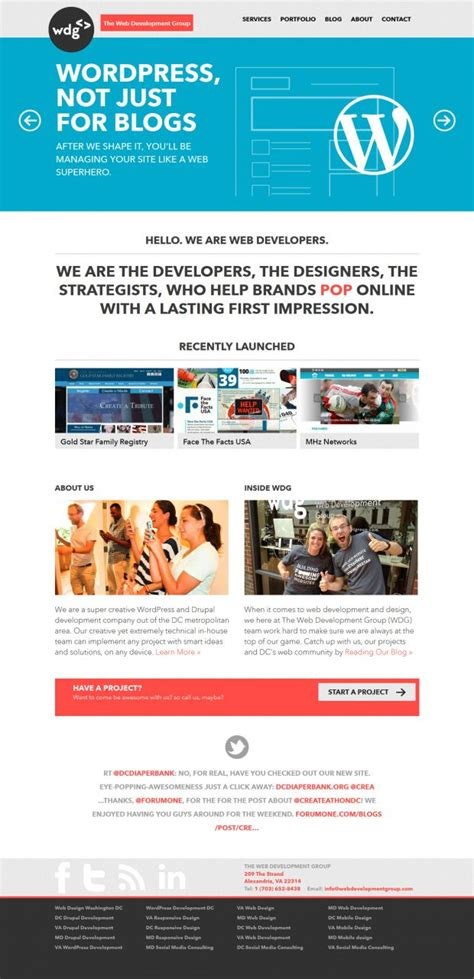 best homepage design inspiration the web development group webdesign inspiration www