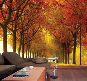 Autumn Wall Murals Autumn Colors Wall Mural 10 5 Wide By 8 High Ebay