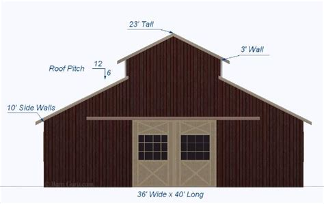 monitor style barn plans horse barn design 36 x 40 shell monitor style horse barn