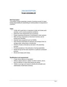 Assembly Description by Team Assembler Description Template Sle Form Biztree