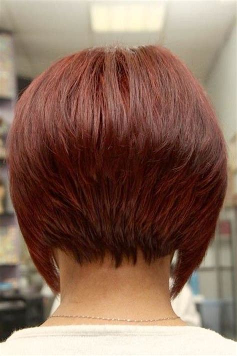 the swing short hairstyle short n the back and long in te frlnt at a angle stacked bob hairstyles back view download quot short stacked