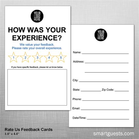 feedback request template cards smartguests hotel marketing customer service tools