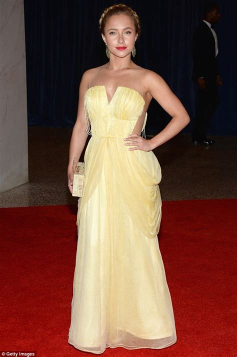 Get A Yellow Dress Like Hayden Panetierre by Katching My I Hayden Panettiere In Lemon Yellow Disney
