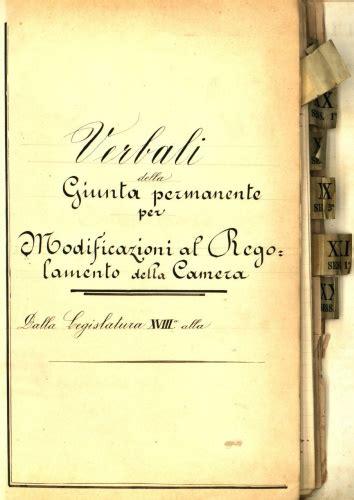regolamento della dei deputati archivio della regia 1848 1943 patrimonio
