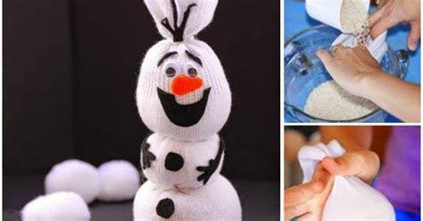 frozen sock snowman diy disney frozen olaf sock snowman diy craft projects