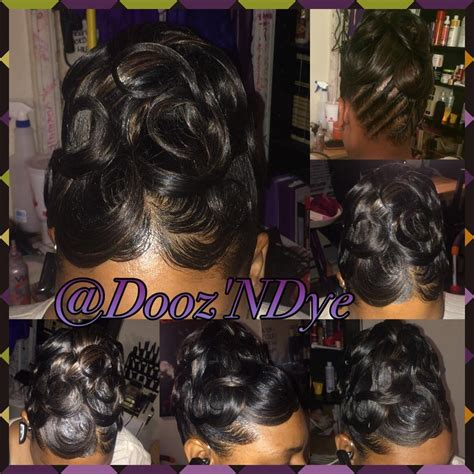 Pin Curls Hairstyles Black Hair by Pin Curl Updo Black Hair Www Pixshark Images