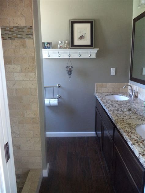 dark tile bathroom floor pin by patti wallis on bathroom remodel pinterest