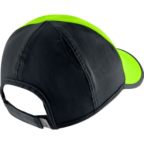 nike featherlight s tennis hat green black