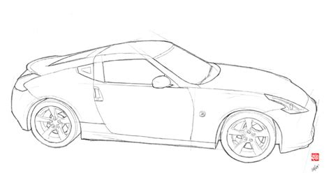 370z Coloring Page by How To Draw Nissan 370z