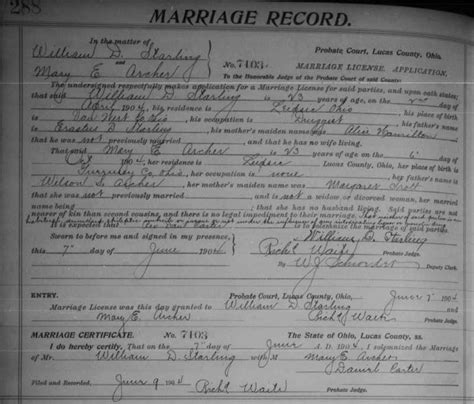 Ohio State Marriage Records Genealogy Data Page 57 Notes Pages