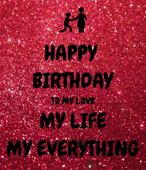 Happy Birthday To My In by Happy Birthday To My My My Everything Poster