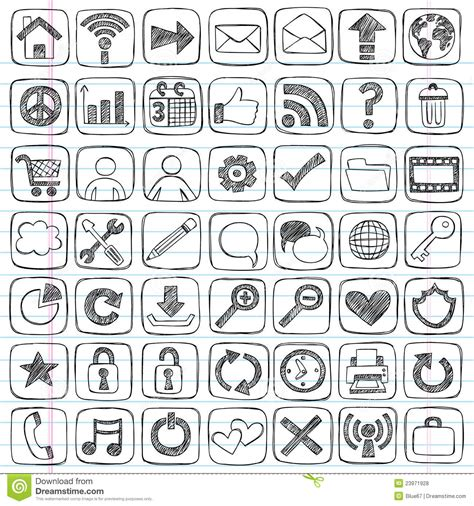 doodle free website sketchy doodle web icon computer design elements stock