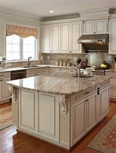 Old White Kitchen Cabinets by New Venetian Gold Granite For Stunning Home Design