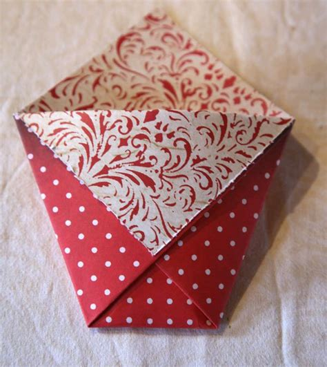 How To Fold Paper Into A Bag - 17 best ideas about handmade paper boxes on