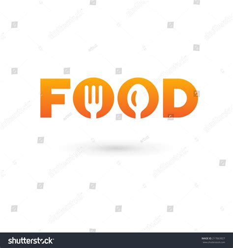 word food template food word sign logo icon design stock vector 217063927