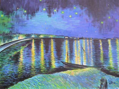 Peinture Qui Reflete La Lumiere by La Nuit 233 Toil 233 E Sur Le Rhone D Apr 232 S Gogh