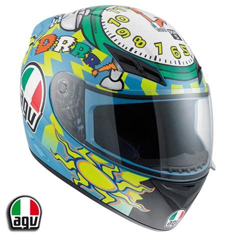 helm up design agv k3 valentino rossi wake up helmet misano 2010