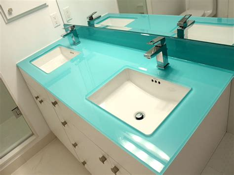 Back Painted Glass Countertops - backpainted glass countertop bathrooms cbd glass