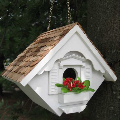 Decorative Bird Houses by Decorative Wren Hanging Bird House Yard Envy