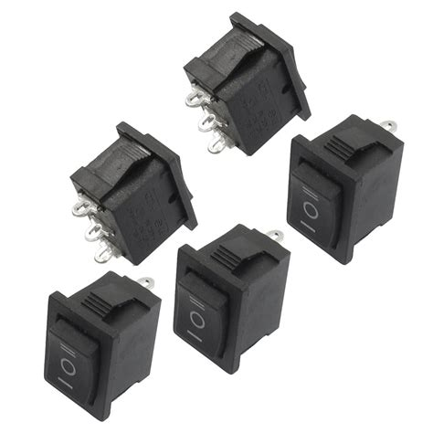 Promo Switch Lu On 3 Pin Rocker Switch Lu 3 Pin Kecil promotion 5 pcs spdt on on mini black 3 pin rocker switch ac 6a 250v 10a 125v in switches