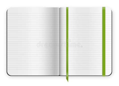copybook template stock vector image 44644945