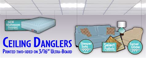 Ceiling Danglers by Monarch Graphics Incorporated Welcome