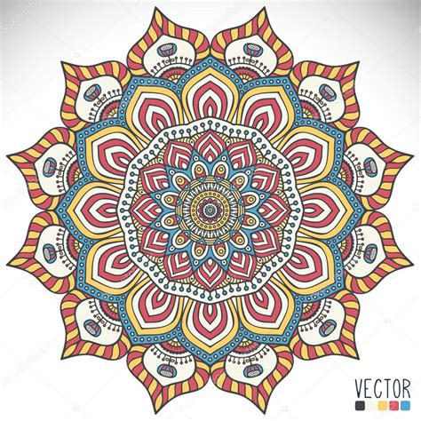 pattern and ornament in the art of india mandala round ornament pattern vintage decorative